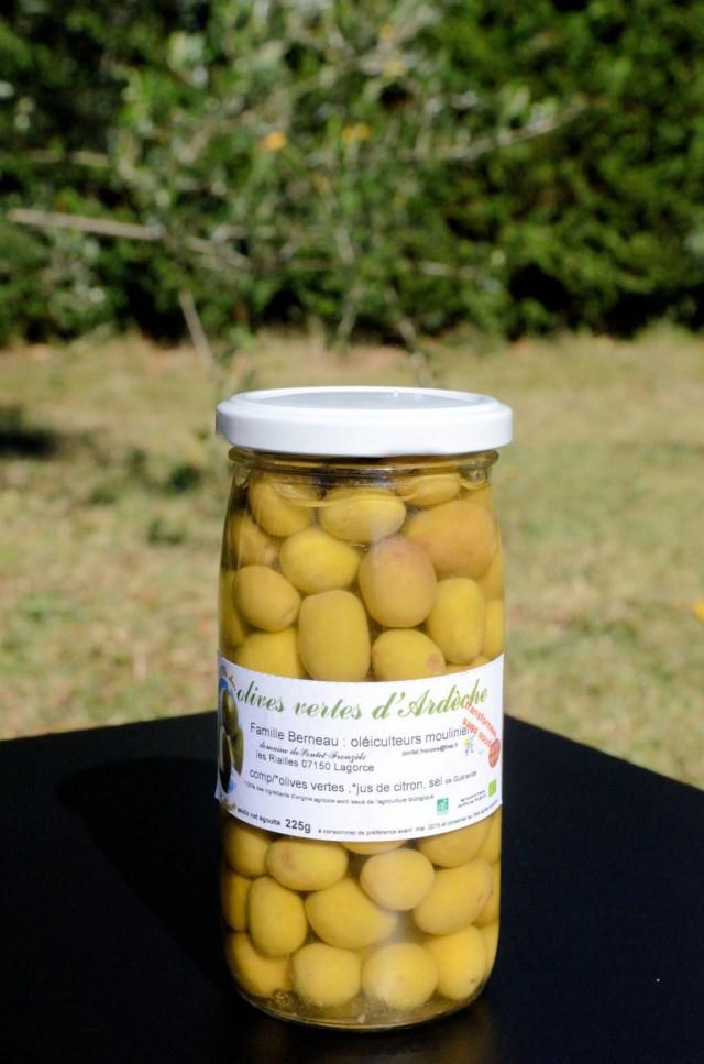olives vertes bio