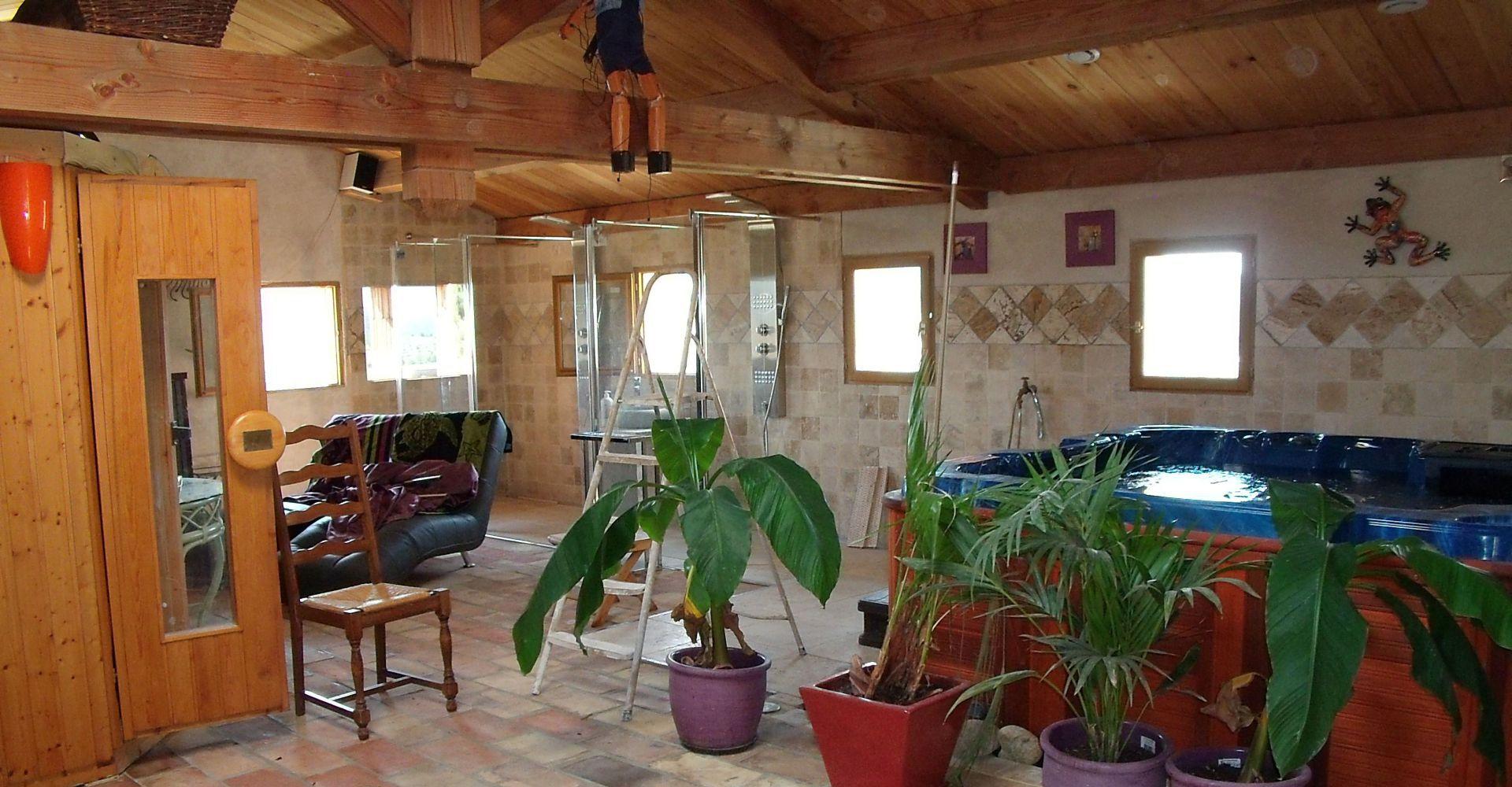 D tente en ard che nature spa sauna for Sauna la detente